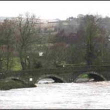 View of Slaney in major flood conditions below Clohamon bridge