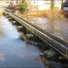 water almost at the railway bridge