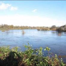 River Slaney (New Lake) above railway bridge in Enniscorthy